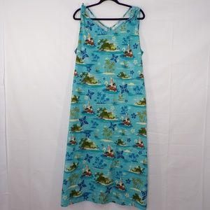 Disney Moana Maxi Dress, Sz 2X